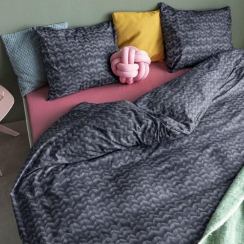 Snurk Charcoal Black dekbedovertrek-140x200/220 cm