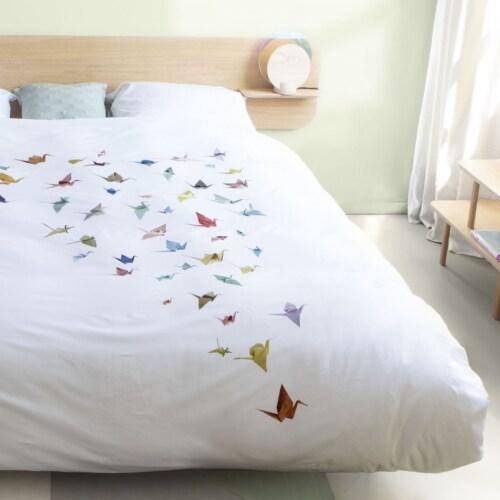 Snurk Crane Birds dekbedovertrek-140x200/220 cm