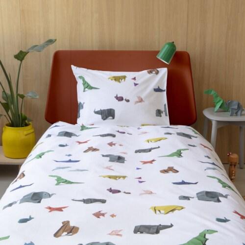 Snurk Paper Zoo dekbedovertrek-140x200/220 cm