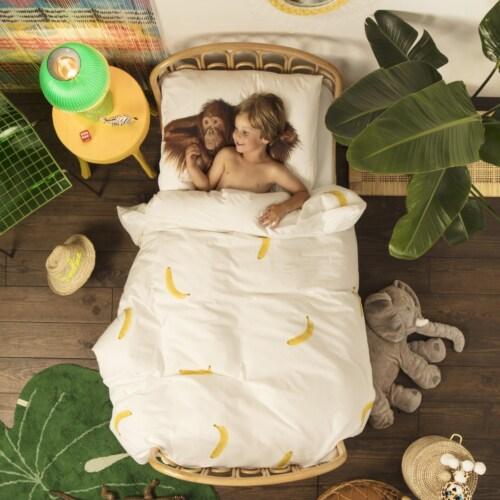Snurk Banana Monkey dekbedovertrek-200x200/220 cm