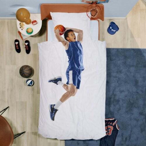 Snurk Basketball Star Blue dekbedovertrek-140x200/220 cm