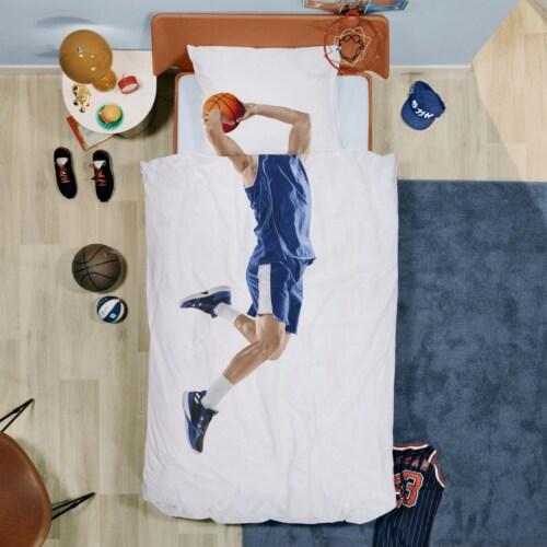 Snurk Basketball Star Blue dekbedovertrek-240x200/220 cm