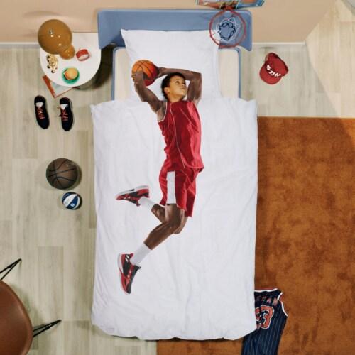 Snurk Basketball Star Red dekbedovertrek-240x200/220 cm