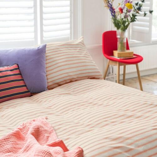 Snurk Breton Pink dekbedovertrek-200x200/220 cm