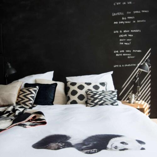 Snurk Lazy Panda dekbedovertrek-240x200/220 cm-Katoen