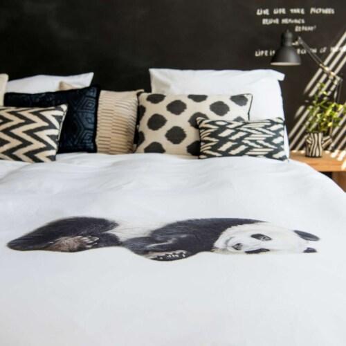 Snurk Lazy Panda dekbedovertrek-140x200/220 cm-Flanel