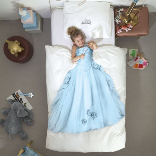 Snurk Princess Blue dekbedovertrek-140x200/220 cm