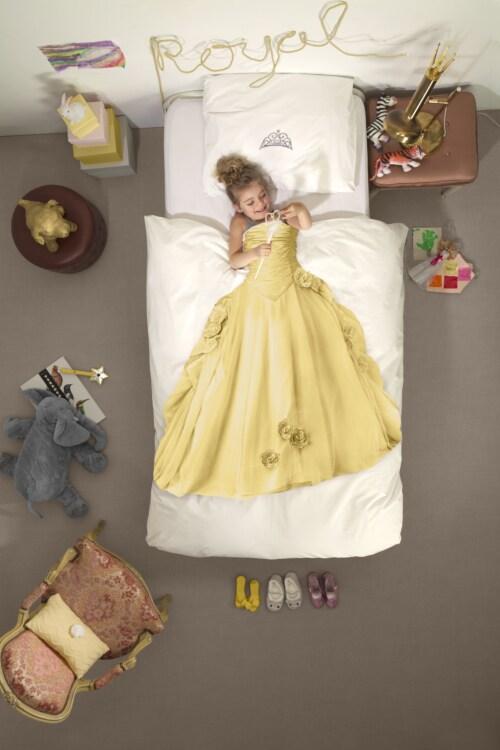 Snurk Princess Yellow dekbedovertrek-140x200/220 cm