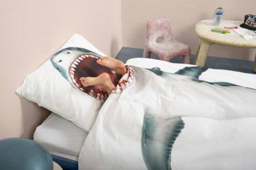 Snurk Shark!! dekbedovertrek-140x200/220 cm