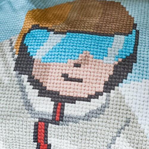 Snurk Ski Boy dekbedovertrek-140x200/220 cm