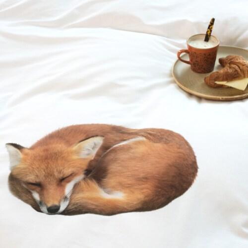 Snurk Sleeping Fox dekbedovertrek -140x200/220 cm