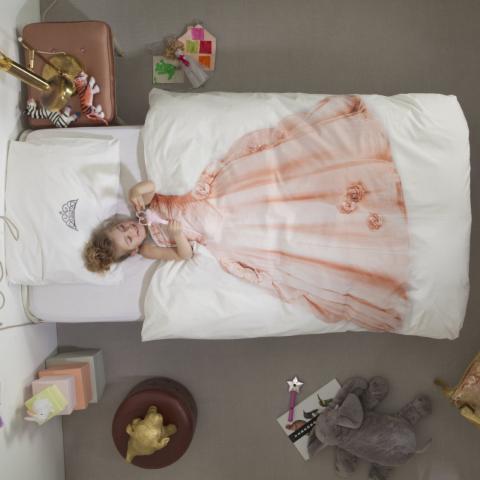 Snurk Princess Pink dekbedovertrek-140x220 cm