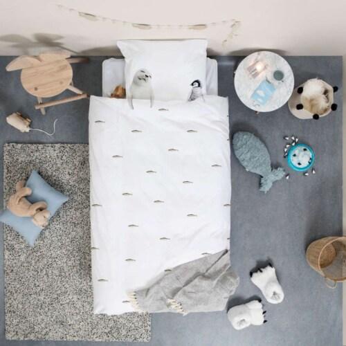 Snurk Arctic Friends FLANEL dekbedovertrek-140x200/220 cm