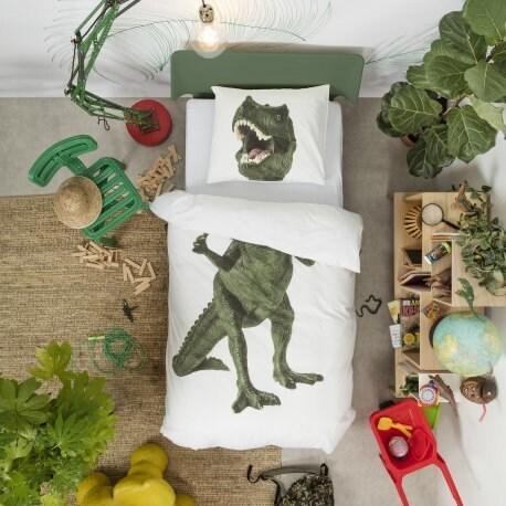 Snurk Dinosaurus Rex dekbedovertrek-240x200/220 cm
