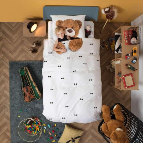 Snurk Teddy FLANEL dekbedovertrek-200x200/220 cm