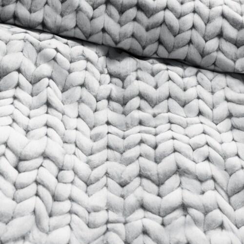 Snurk Twirre dekbedovertrek-Grijs-140x220 cm