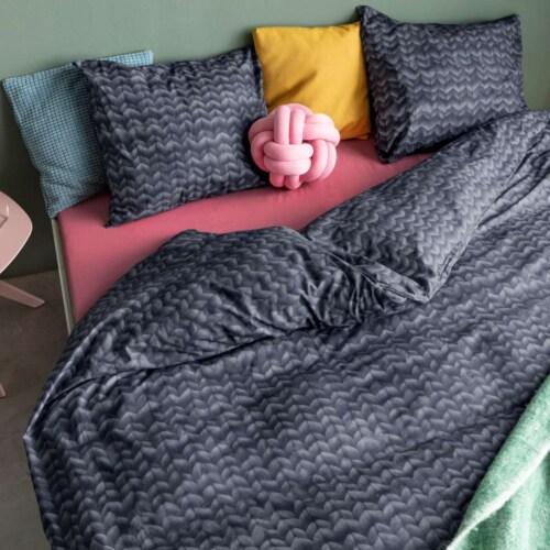 Snurk Twirre Charcoal Black FLANEL dekbedovertrek-140x200/220 cm