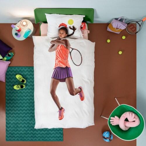 Snurk Tennis Pro Dark dekbedovertrek-140x200/220 cm