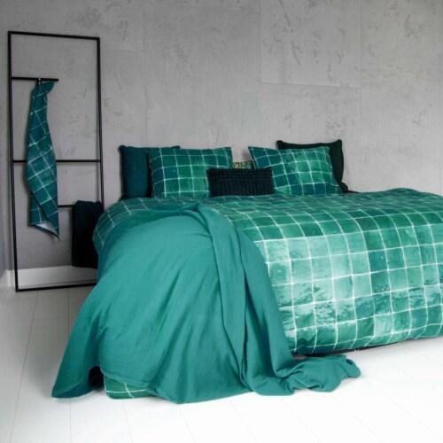 Snurk Tiles Emerald Green dekbedovertrek-140x200/220 cm