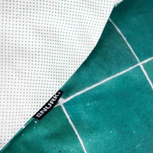 Snurk Tiles Emerald Green dekbedovertrek-260x200/220 cm