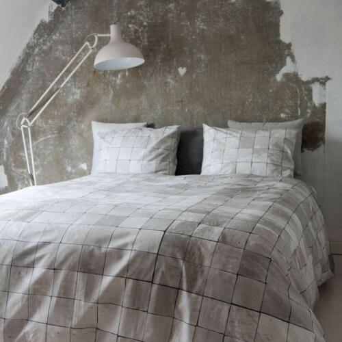 Snurk Tiles Pearl White dekbedovertrek-140x200/220 cm