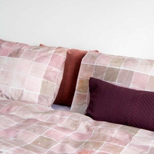 Snurk Tiles Vintage Rose dekbedovertrek-140x200/220 cm