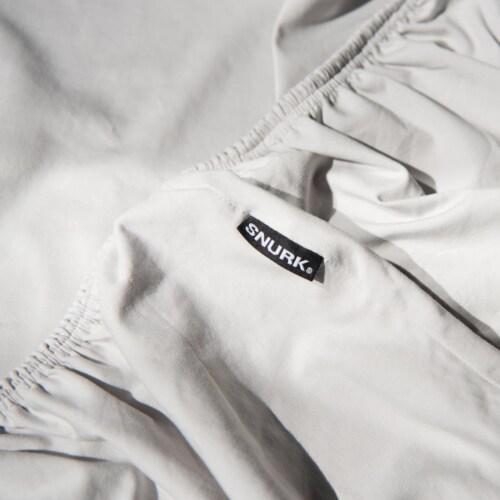 Snurk Uni Grey dekbedovertrek-240x200/220 cm