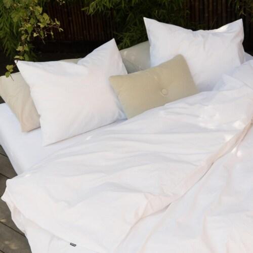 Snurk Uni White dekbedovertrek-140x200/220 cm