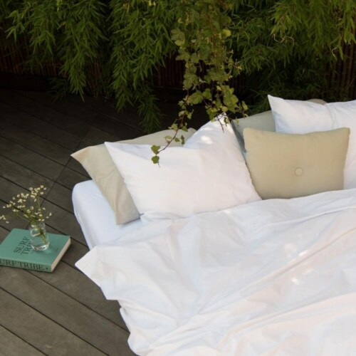 Snurk Uni White FLANEL dekbedovertrek-140x200/220 cm