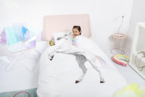 Snurk Unicorn dekbekovertrek-200x200/220 cm